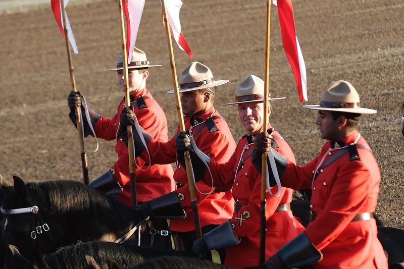 Canadian Habits in Germany - mounted-police are part of Canadian culture