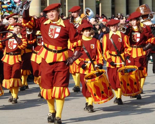 Carnival parade band in Stuttgart, Germany