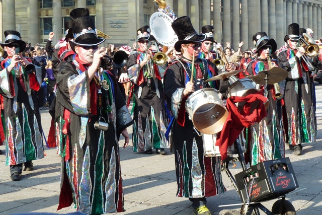 Carnival parade costumes in Stuttgart, Germany