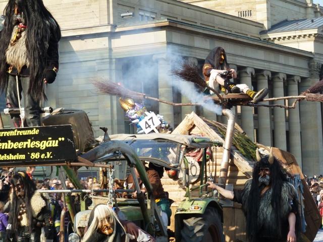 Crazyfloat at Carnival parade in Stuttgart, Germany