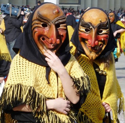 Carnival parade masks in Stuttgart, Germany