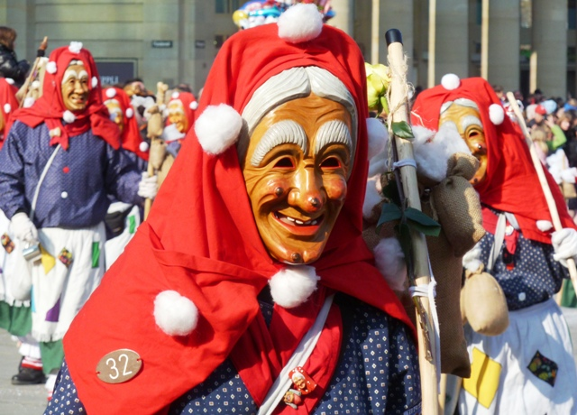 Carnival parade masks in Stuttgart, Germany