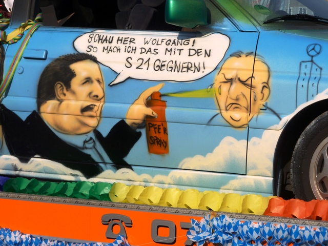 Carnival parade politics in Stuttgart, Germany