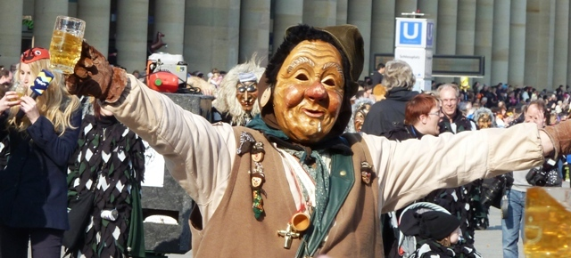 Carnival parade in Stuttgart, Germany