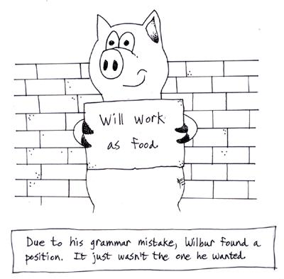 foreign language school pig cartoon