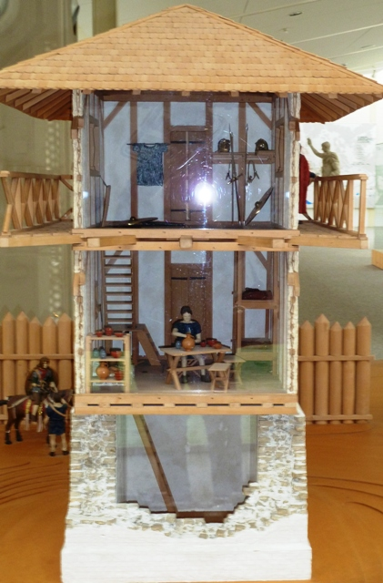 Model of a Roman limes watch tower