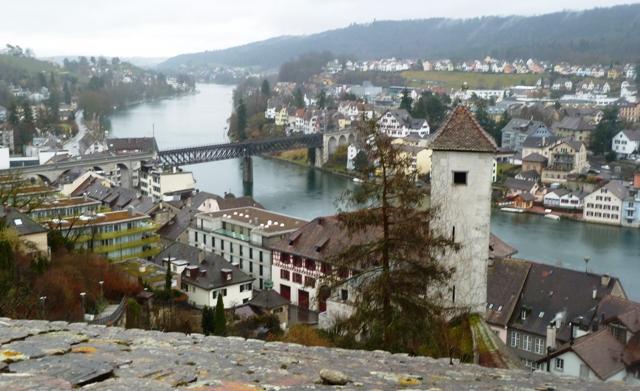View of Schaffhausen Switzerland from the Munot Fortress