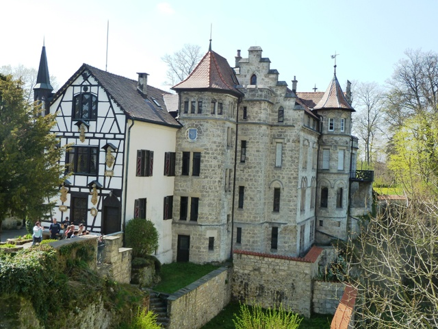 The castle as seen from another viewpoint.
