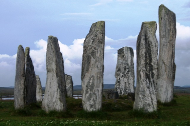 Standing stones of Callanish in Scotland