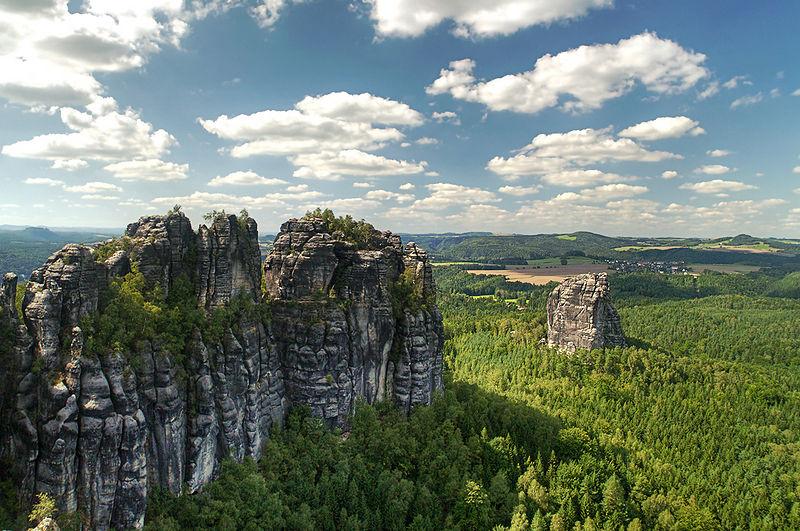 Elbe Sandstone Mountains near Dresden, Germany
