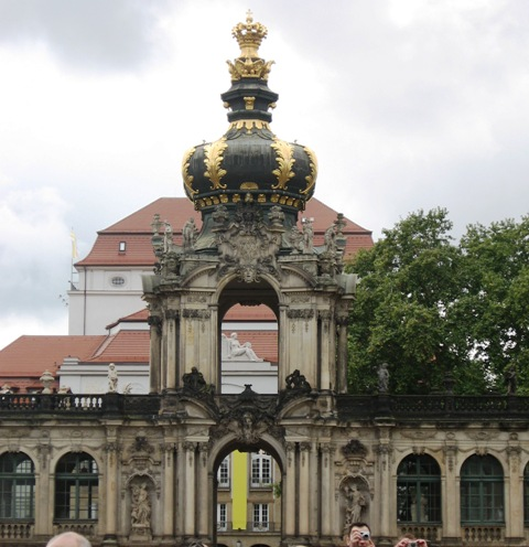 best places to visit in Germany-Crown gate at Zwinger in Dresden, Germany