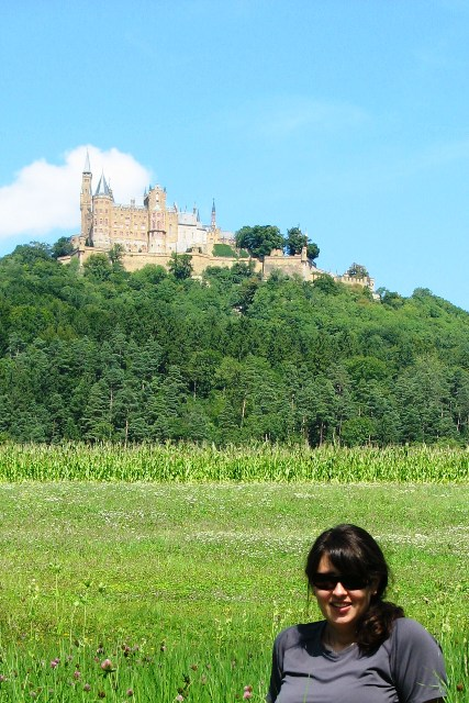 View of Hohenzollern Castle in Baden-Württemberg, Germany