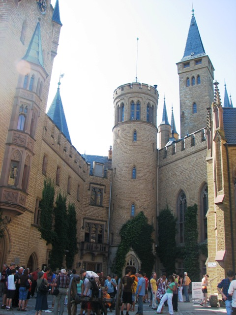 Courtyard of Hohenzollern Castle in Baden-Württemberg, Germany