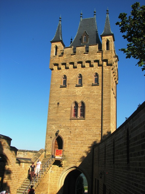 Tower of Hohenzollern Castle in Baden-Württemberg, Germany