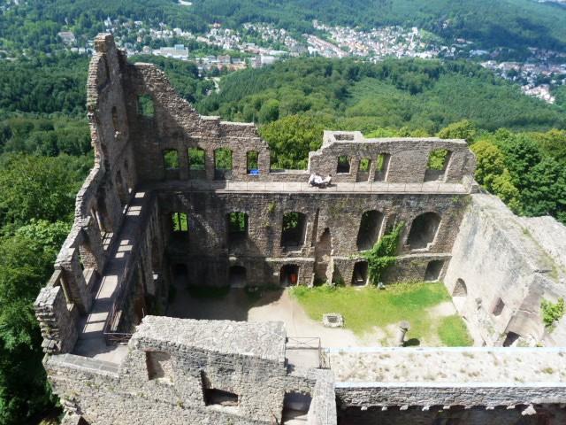 hiking to a ruin overlooking Baden-Baden, Germany