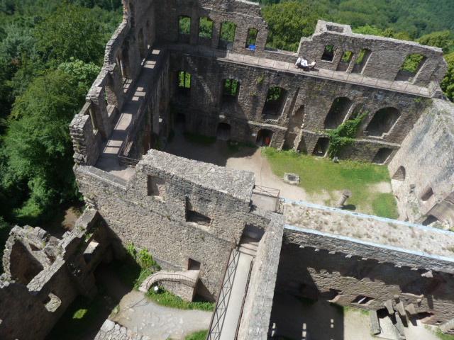 Castles ruins in Baden-Baden, Baden-Württemberg, Germany