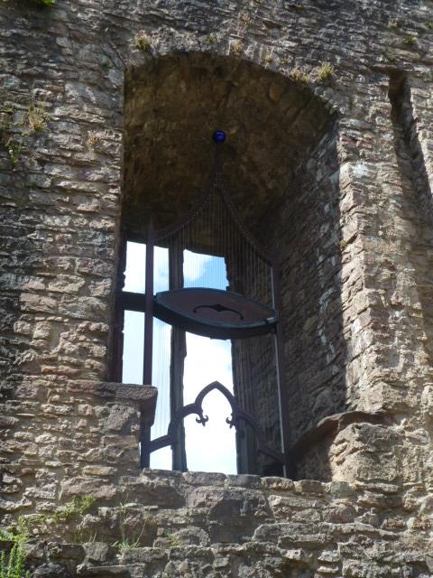 Wind harp in the castle ruins of Baden-Baden in Baden-Württemberg, Germany