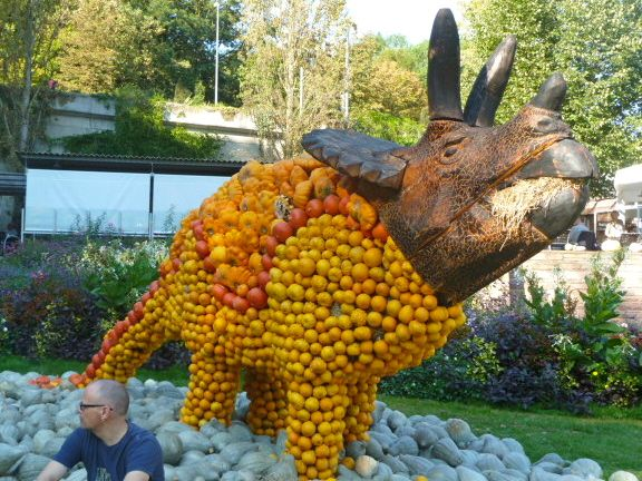 The pumpkin festival is held each year in Ludwigsburg in Baden-Württemberg, Germany.