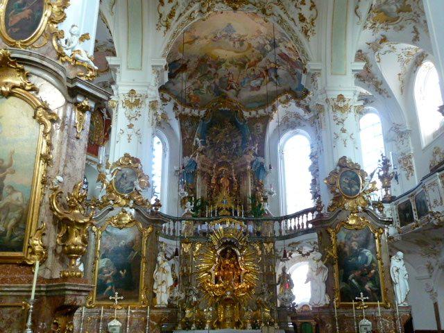 Inside the elaborate church