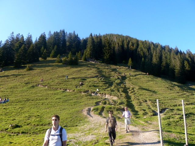 The #hike down from the Heimgarten summit in Bavaria, Germany.