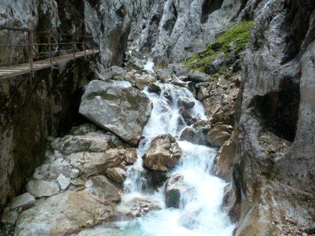 Walkway along the Hollentalklamm in Garmisch Partenkirchen, Bavaria