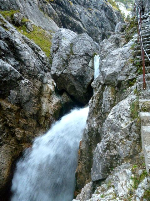 Waterfall and walkway