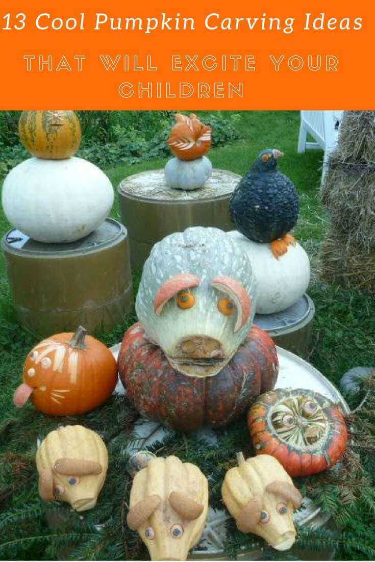 13 Cool Pumpkin Carving Ideas That Will Excite Your Children