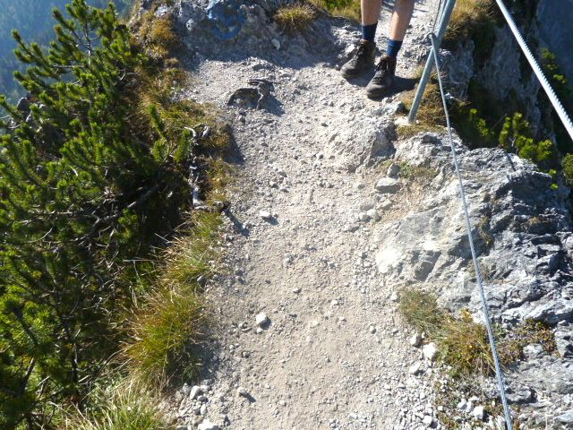 Narrow trail (less than 1 meter wide in places)between the Herzogstand and Heimgarten, not a #hike if you are afraid of heights