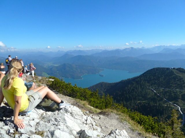 View of the Walchensee, the deepest lake in Bavaria, #Germany.