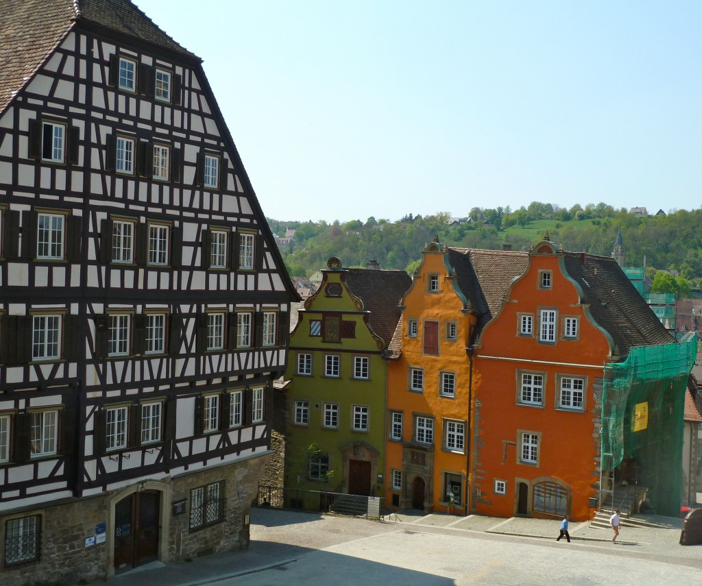 I loved these colorful houses in the Marketplatz.