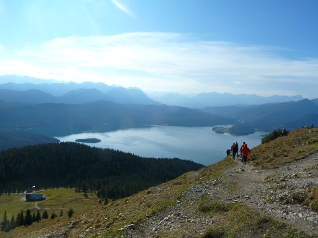 View of the Walchensee from the summit
