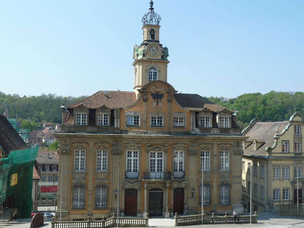 Baroque City Hall in Schwäbisch Hall 's Marketplatz.