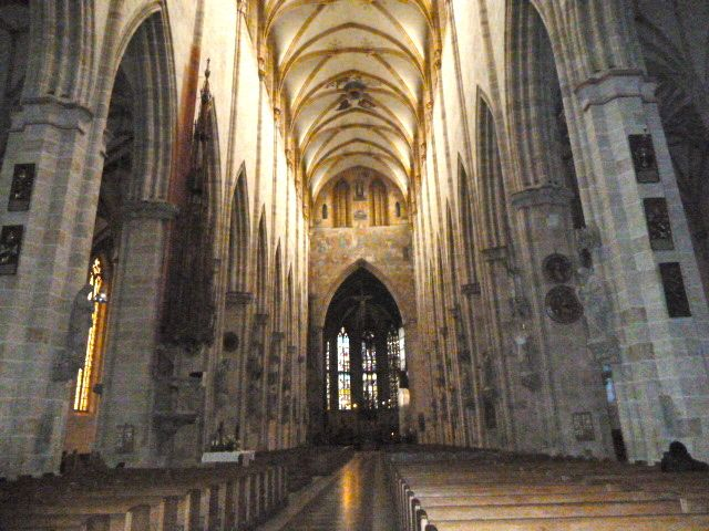 inside the cathedral in Ulm, located halfway between Munich and Stuttgart in Germany