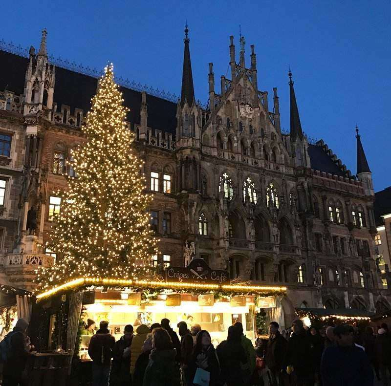 Christmas market at Marienplatz is the most beautiful market in Munich.