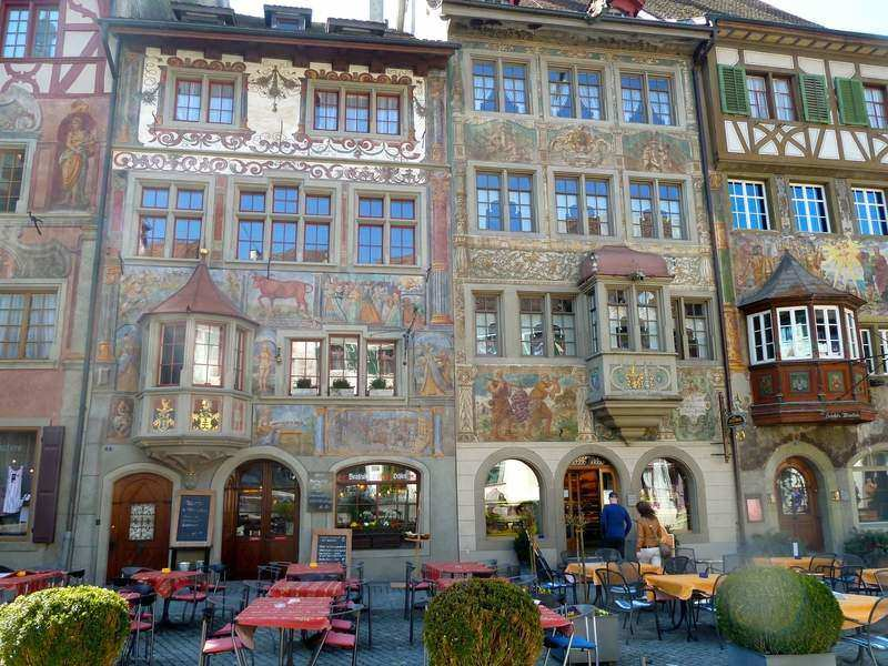 frescos in the Old Swiss town of Stein am Rhein
