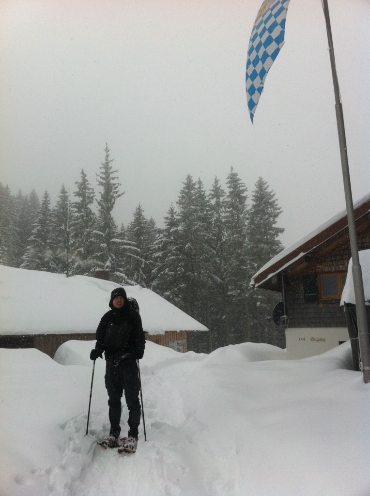 winter hut in Bavaria, Germany