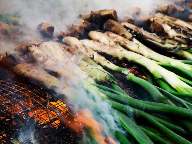 grill calcots before eating them