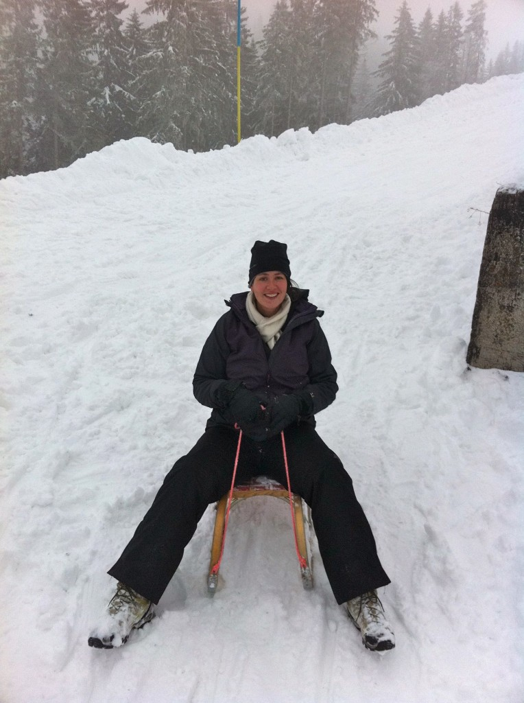 Me sledding at the Wallberg