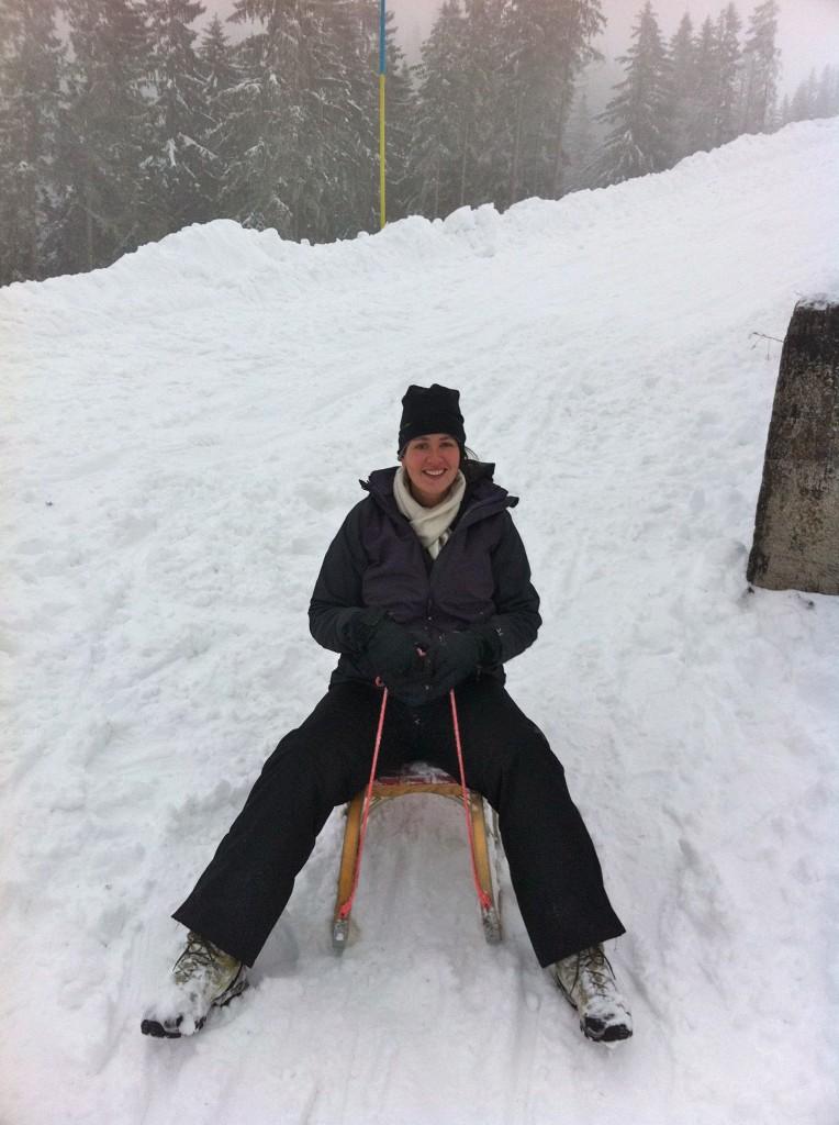 Me sledding at the Wallberg
