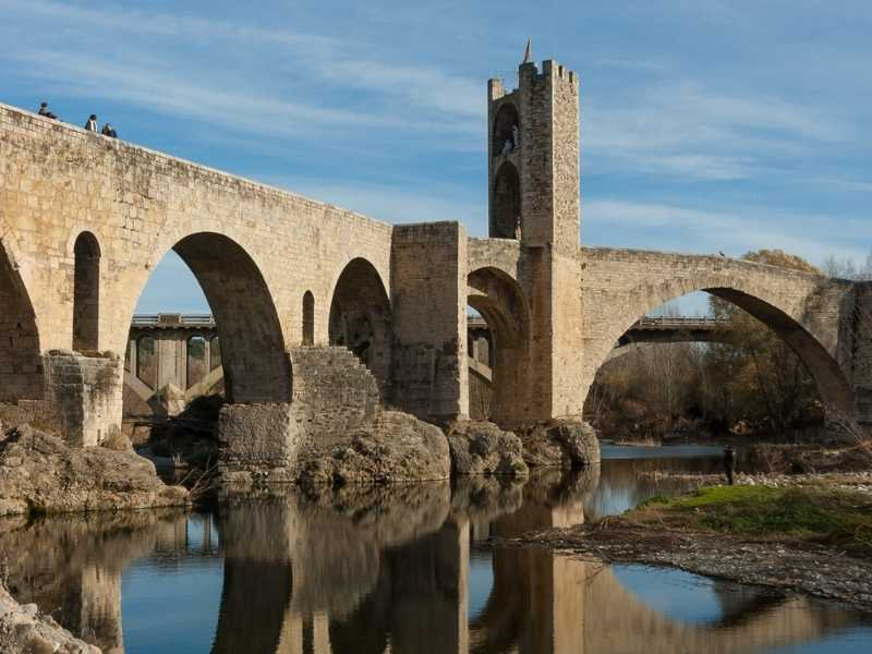 medieval town of Besalu, Catalonia