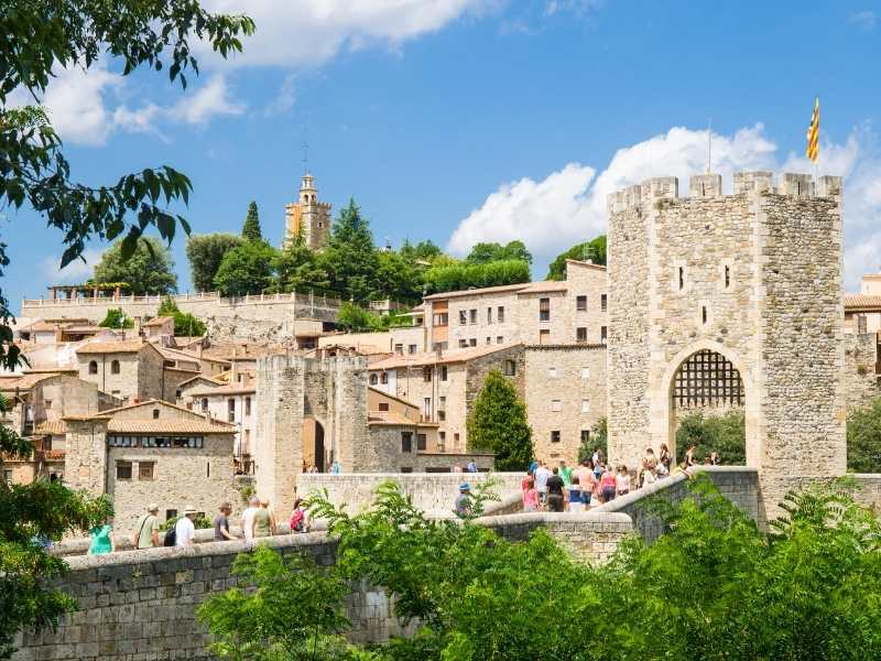 the best way to experience Besalu is on foot