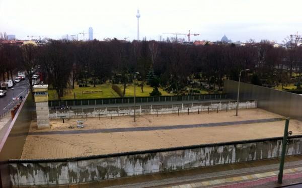 Death strip of the Berlin Wall in Germany