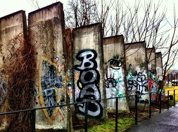 Graffitti on the Berlin Wall in Germany