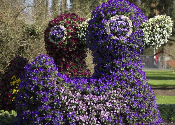 Flower sculptures at Blumen Insel, Mainau, Germany