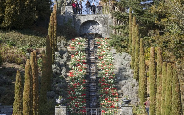Easter Egg flower sculptures at Blumen Insel, Mainau, Bodensee, Germany