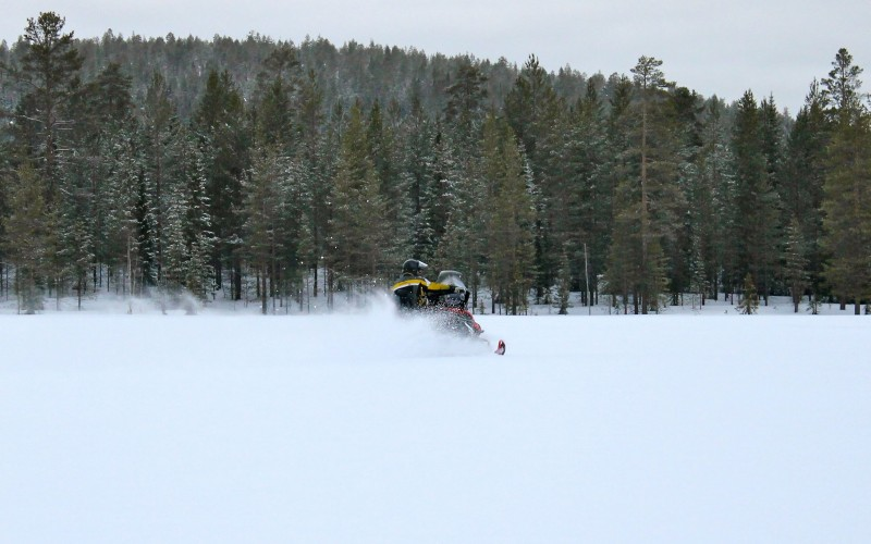snowmobiling fast