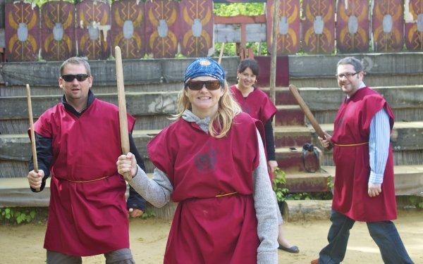 rome gladiator school - dressed up like a gladiator