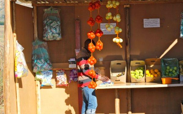 Store at Zulu village, South Africa