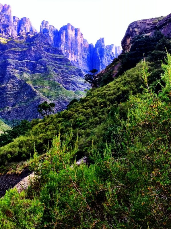 Drakensberg amphitheater waterfall, South Africa