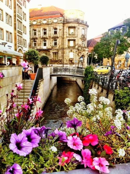 Grand Canal in Bayreuth, Bavaria, Germany